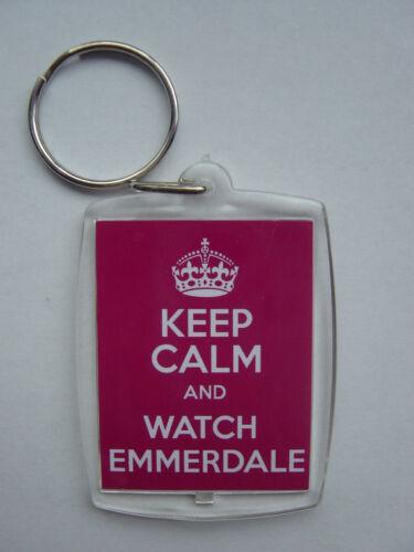 Photo Keyring // bag tag clear plastic, Keep calm