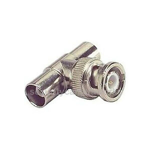 20 pcs T Type BNC Male to Double 2 BNC Female Adapter Connector For CCTV Camera