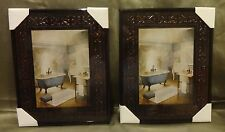 Bath Tub Framed Pictures Set of Two