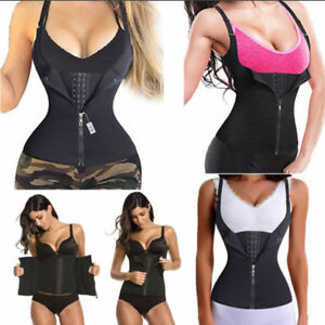 308a157c446 Hook+Zipper Sauna Sweat Body Shaper Neoprene Women Slimming Waist ...