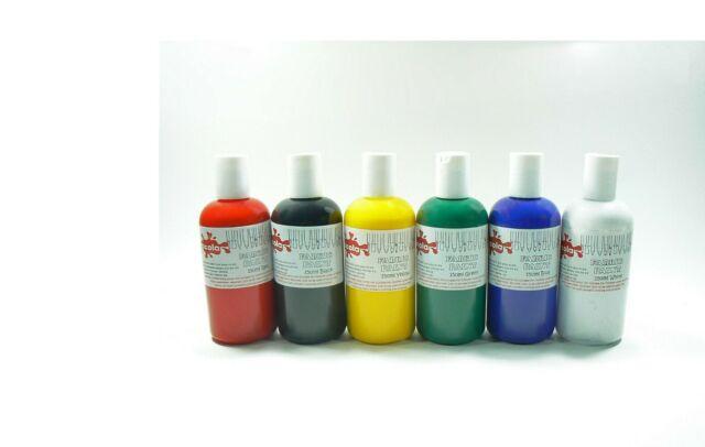 Scola conjunto de los 6 X 150ml Color Pintura De Tela Rojo Verde Blanco Azul Neg