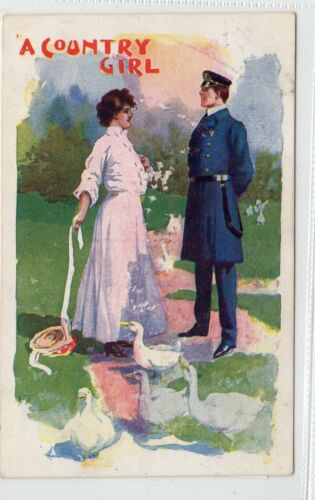 """A COUNTRY GIRL"" Theatre Advertising postcard C14913"