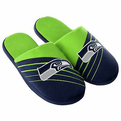 Pair Seattle Seahawks Big Logo Slide Slippers Team Color House shoes BLG16 Style