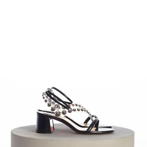 CHRISTIAN LOUBOUTIN 845$ Corinne 55 PVC-Strap Leather Sandals