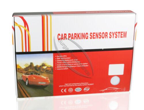 Aide au stationnement aide au stationnement radar de recul pdc haut-parleur Display 4 capteurs blanc