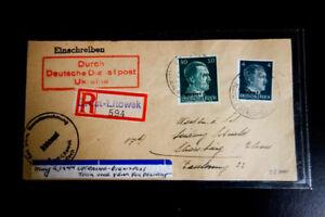 L-039-Ukraine-timbres-inscrit-Cover-Air-livraison-a-pris-1-Annee-rare