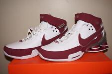 Nike Shox Elite II TB Mens Basketball Shoes - White/Maroon - Size 8.5