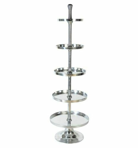 Casablanca XL Etagere Grande 170cm Höhe vernickelt Silber Gebäckschale Neu