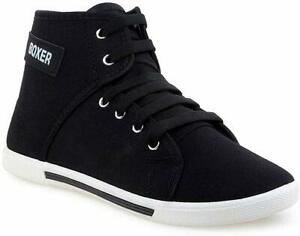 Black High Ankle Casual Regular Sports