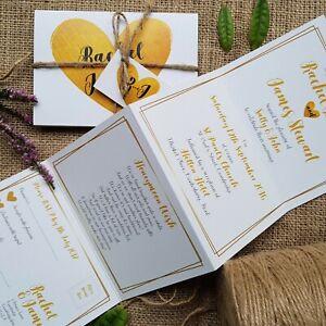 Personalised-Wedding-Invitations-Evening-Invites-Gold-amp-Ivory-Handmade