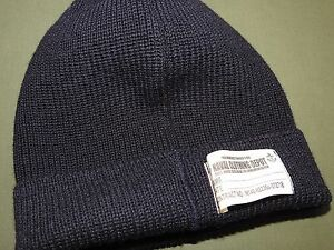 US-Navy-WW2-EASTMAN-KNIT-WOOL-WATCH-CAP-Beanie-Hat-Wear-W-A-2-B-3-Flight-Jacket