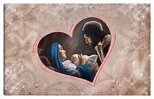 Quadro moderno 100x60 sacra famiglia madonna gesù capezzale rosa cuore goccia