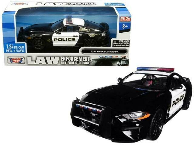 MOTORMAX 76925 2013 FORD INTERCEPTOR CONCEPT 1//24 UNMARKED POLICE BLACK WHITE