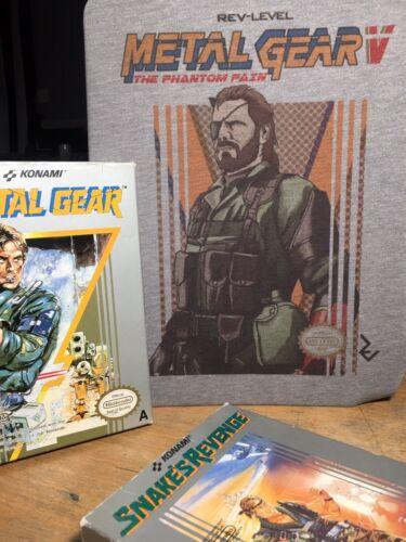 Metal Gear Solid V Nes Cover T-shirt 2017 Update-MGS 5 8bit inspiré par Kojima