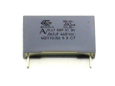 47nF,.047µF K,uF,Vac,AV R.46,Kondensator 1x 0,047µF AV 275V~ MKP X2 M O246