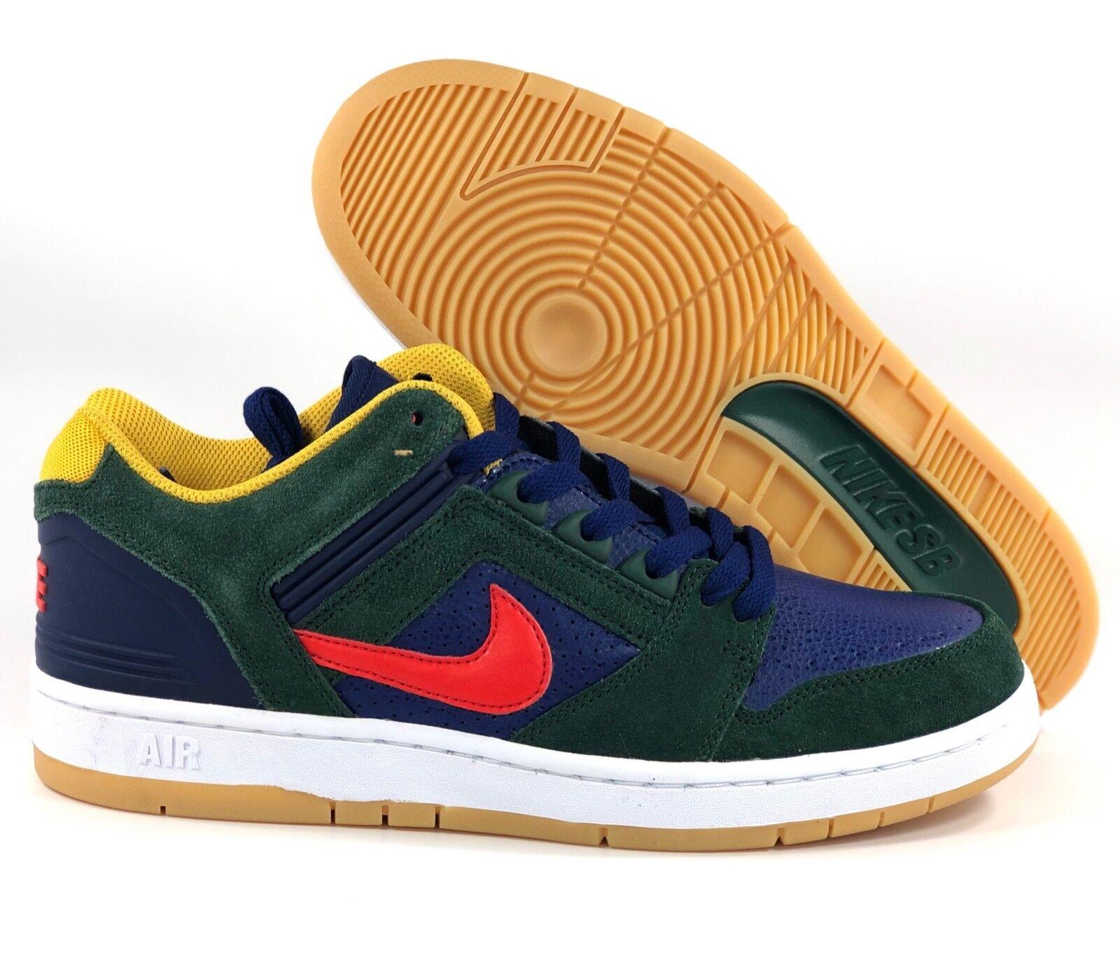 Nike sb air force ii niedrigen niedrigen niedrigen dunklen grün - rot blau - gelb ao0300-364 männer 8 - 10 f4e130