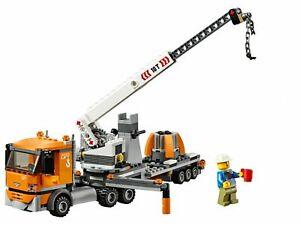 LEGO-City-Crane-Truck-amp-Trailer-amp-Minifigure-Train-Town-Scenery-60197-60198-NEW