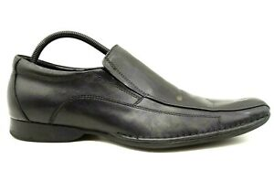 aldo black leather slip on dress casual loafers shoes men