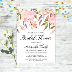 BRIDAL-SHOWER-INVITATIONS-PERSONALISED-INVITE-FLORAL-PINK-HIGH-TEA-FLORAL-HENS