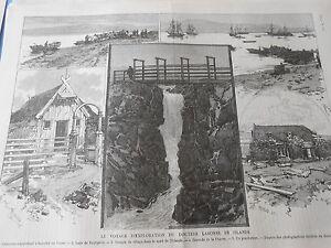 Gravure 1887 - Le Voyage D'exploration Du Docteur Labonne En Islande