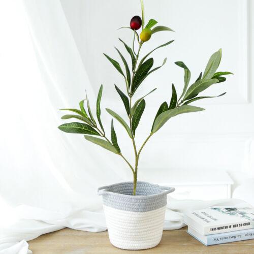Artificial Olive Leaves Olive Tree Branch Plant Silk Green Leaf Garland Decor