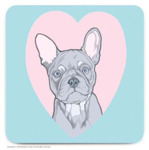 Coaster Drinks Mat Cute French Bulldog Novelty Cheap Present Birthday Gift