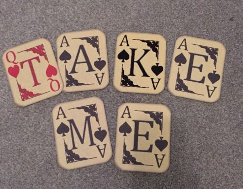 Alice In Wonderland Playing Card Take Me Bunting//banner decoration