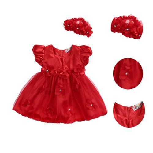 Princess Wedding Party Prom Birthday Dress Skirt Tutu Dresses For Baby Girl 0-3Y