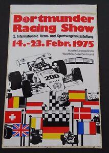 Fan-Aufkleber Dortmunder Racing Show 1975 Westfalenhalle Dortmund Classic Car