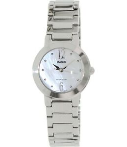 Details 7a Dress Ltp1191a Steel Casual Stainless Quartz White Casio Ladies About Watch Round WEHD92IY