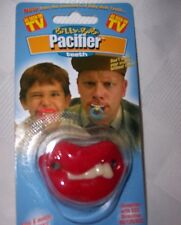 Teeth Pacifier Halloween Baby Punk Lips Billy Bob Gag NIP