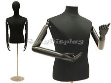 Male Shirt Hard Foam Dress Form With Arms And Head Jf 33m02armbs 04