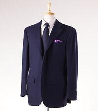 NWT $7495 KITON Solid Navy Blue 100% Cashmere Blazer 48 R Sport Coat Modern-Fit
