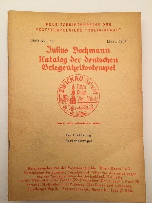 9839] Bochmann, Kataloge der deutschen Gelegenheitsstempel, Heft Nr. 25, gebrauc