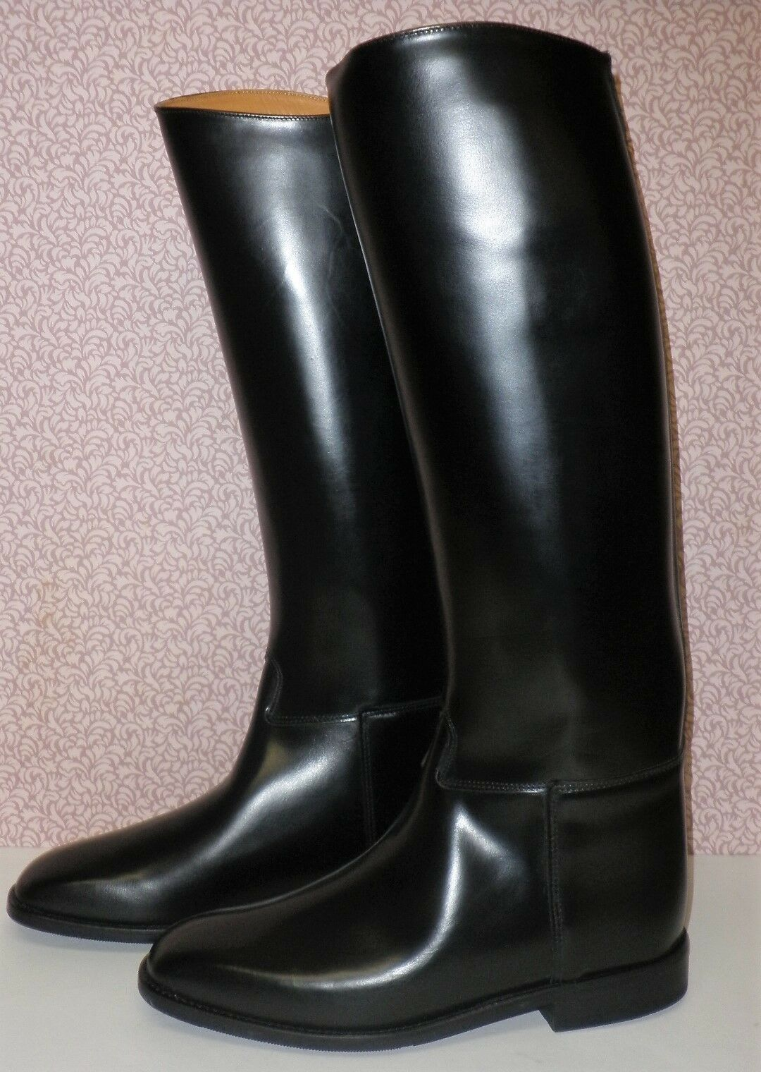 Regent Europa zwart Leer Riding laarzen --afmeting 3 In diverse lengte &m Calf afmetings