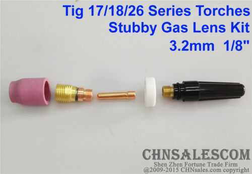 5 pcs TIG Welding Torch Stubby Gas Lens Kit for Tig WP-17//18//26 Series