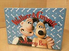 RARE VINTAGE 1997 Wallace and Gromit Stationary Box Writing Set Shaun the Sheep