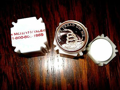 "20 Count Roll Of 1oz Copper Proof Rounds ""don't Tread On Me"" .999 Copper 100% Quality"