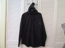 BILLABONG  jacket hoodie,XL,NWT,Black with white flecks,LS,full button