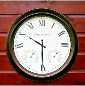 Jonart-Design-Windermere-46cm-Wall-Clock-With-barometer-and-thermometer-Garden