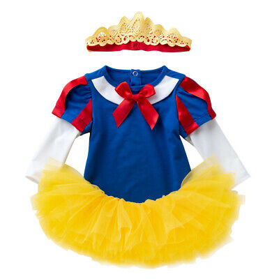 Baby Girl Biancaneve Tutu Costume Con Fascia Per Capelli Festa Di Compleanno Recita Scolastica-mostra Il Titolo Originale Qualità E Quantità Assicurate