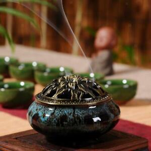 Ceramic-Incense-Burner-Joss-Stick-Censer-Holder-Irregular-Shape-Blue