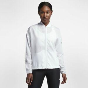 Da-Donna-NIKE-DRY-Training-Jacket-Taglia-SMALL-Bianco-Bianco-Nero-889291-100