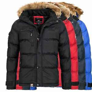 Geographical-Norway-BEHAR-Herren-Winterjacke-Jacke-Outdoor-warm-gefuettert-S-XXXL