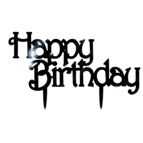 Happy Birthday Acrylic Cake Topper Decorating Supplies Cakes Glitter Decors