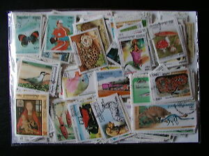 1000 TIMBRES DU CAMBODGE - 1000 TIMBRES TOUS DIFFÉRENTS - CAMBODIA STAMPS S81f0HgO-07142732-568719205