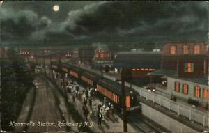 Rockaways-Long-Island-NY-Hammel-039-s-RR-Train-Station-Depot-c1910-Postcard