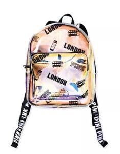 Victoria's Secret Pink Clear Iridecent Mini Backpack London
