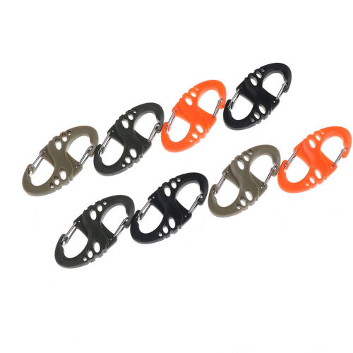 Details about  /10pcs outdoor climbing hook s type carabiner dual buckle keychain S6 Y1