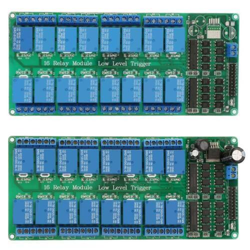 16-Channel Optokoppler Relaismodul Board Relaiskarte High /& Low Level Trigger se